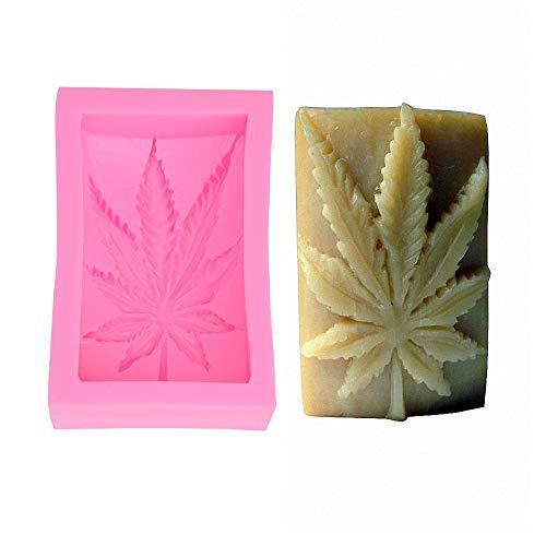 - Fewo Pot Leaf Silicone Mold for Handmade Bar Soap Cannabis Leaf Hash Weed Hemp Bath Bomb Lotion Bar Mould (5oz)