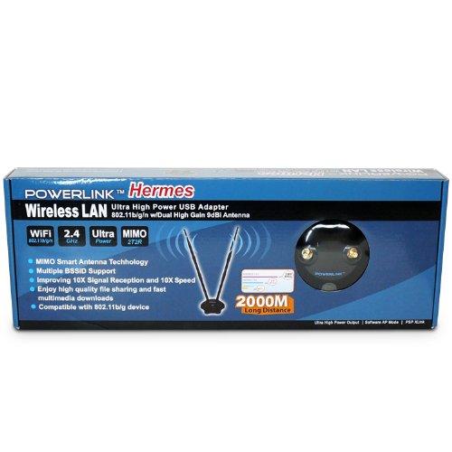 Premiertek Wireless 802.11bgn High Power 300Mbps 2T2R USB 2.0 Adapter (Hermes) by Premiertek (Image #2)