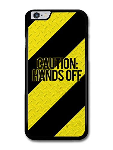 Cool Caution Hands Off Steel Warning Tape Style Design case for iPhone 6 Plus 6S Plus