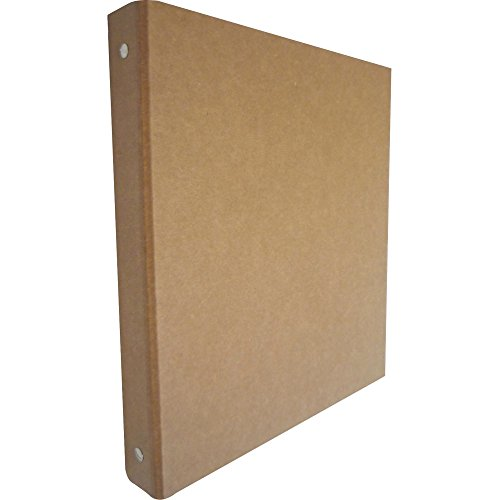Aurora 10252 1-Inch Capacity Three Ring Brown Kraft Recycled (Cardboard 3 Ring Binder)