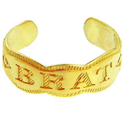 """Stylish 14k Yellow Gold """"BRAT"""""""