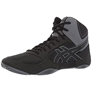 ASICS Mens Snapdown 2 Wrestling Shoe, Black/Carbon, 12 Medium US