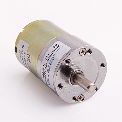 New 12V DC 300 RPM High Torque Gear-Box Speed Control Electric Motor Reversible