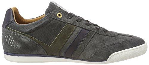 Pantofola d'Oro Herren Vasto Suede Uomo Low Sneaker Grau (Dark Shadow .7zw)