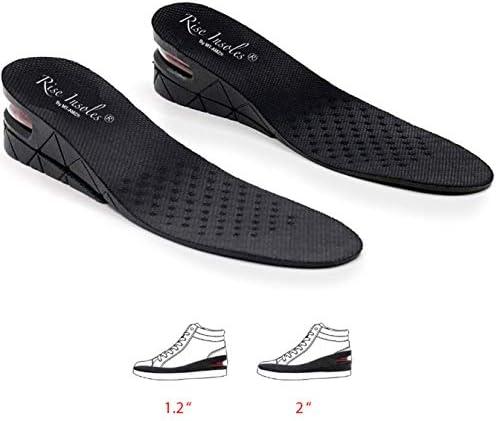 2 Pack Men Elevator Shoe Insoles Heel Lift Insert Pads 1//2 Inch Height Increase
