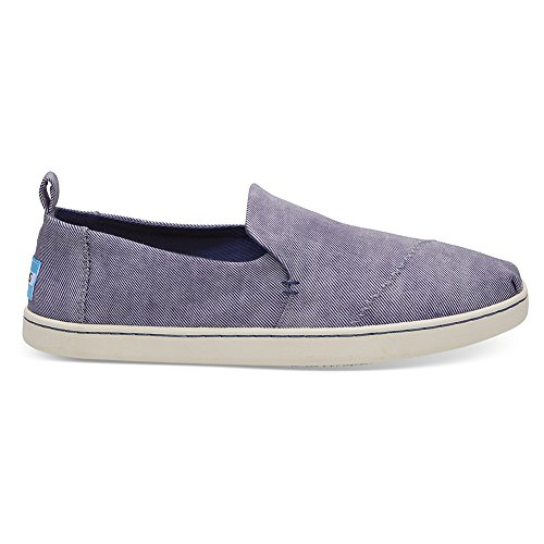 Deconstructed Slip Alpargata Blue Slate Washed Shoe Women's TOMS Twill On Blue Cinderella RxfWw6