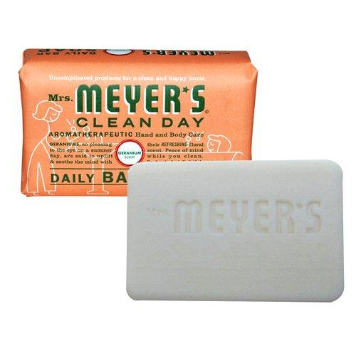 Mrs. Meyer's Daily bar soap, Geranium, 5.3 oz Mrs Meyers Hand Lotion Geranium