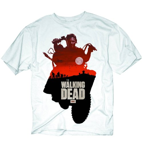 Walking Dead - Daryl Sunset T-Shirt - Medium White