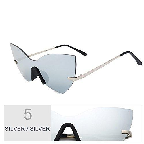 Silver De Gafas Gafas Mujer Eye Sol Espejo De De TIANLIANG04 Oro Rosa Estilo Silver Moda Bastidor Mujer Sol Cat qtwx8FpU