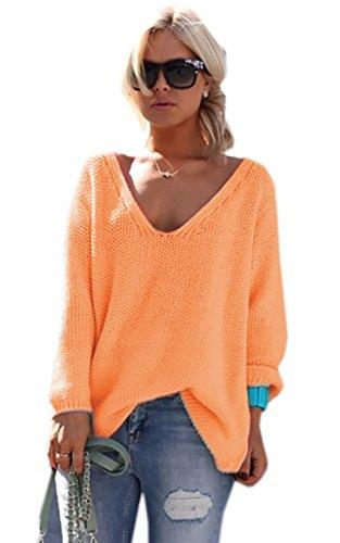 Orange Mikos Taille unique Pull Femme 66wrIO