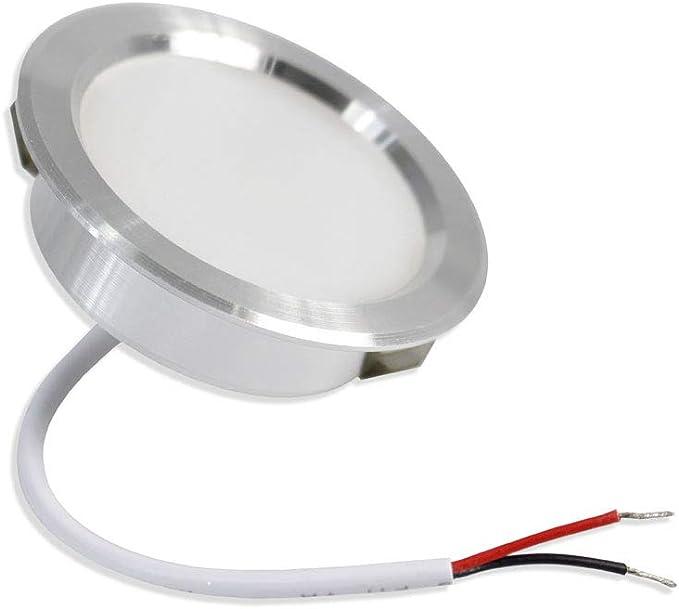 Vetrineinrete/® Faretto led 3 watt ad incasso rotondo luce fredda 6500 k luce calda 3000 k luce naturale 4000 k opaco con bordo argento Luce calda 3000k D81