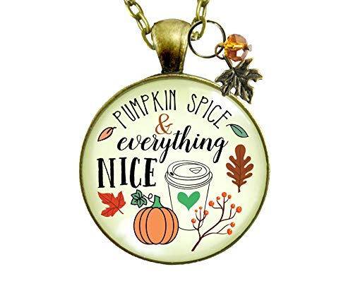 Halloween Inspired Food Names - Gutsy Goodness Pumpkin Spice Necklace Latte