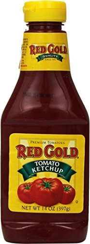 (Red Gold Tomato Ketchup Squeeze Bottle 14 Ounces (Pack of 3))