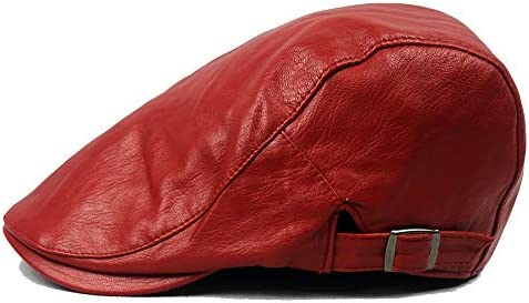 野球帽 キャスケット メンズ ハット ゴルフ PU 調整可能 ソフト シンプル ハンチング 55-60cm LWQJP (Color : 3, Size : Free size)