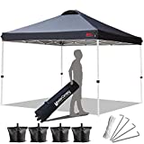 MASTERCANOPY Compact Canopy 10x10 Ez Pop up Canopy Portable Shade Instant Folding Better