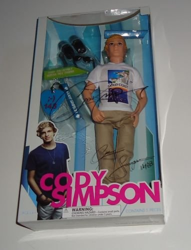 CODY SIMPSON signed *BACK STAGE PASS* DOLL W/COA NEW 1