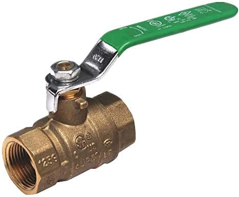1-1//2 Pipe Size Lever Lead-Free Brass FNPT x FNPT Ball Valve