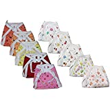 Teeny Weeny New Born Baby Hosiery Cotton Cloth Nappies/Diaper Pack of 10 (0-6 Months)(Multicolour Mix Prints)