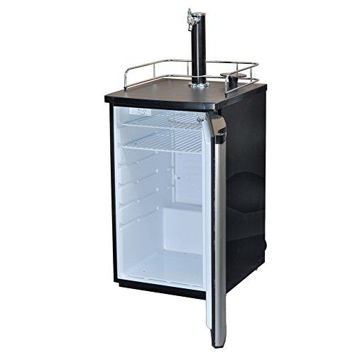 SMETA Freestanding Draft Beer Dispenser with Beer tower Beer keg cooler refrigerator 4.9 cu ft,Stainless steel by SMETA (Image #2)
