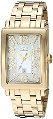 Gevril Woman's 'Ave Of Americas Mezzo' Quartz and Stainless Steel Gold-Toned Watch from First SBF Holding Inc.