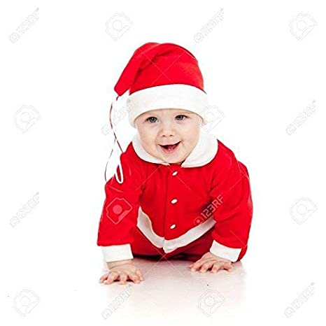 dc9aa0b09a3 Buy Om Tech Enterprises Christmas Santa Claus Fancy Dress Costume for 0-12  Babies 0-6 Month Free Size Online at Low Prices in India - Amazon.in