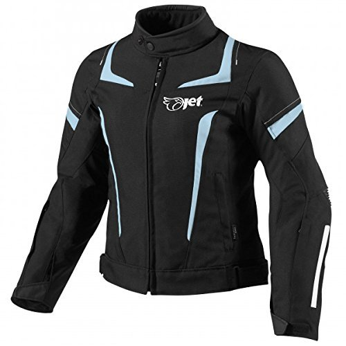 JET Chaqueta Moto Mujer Textil Impermeable con Armadura ES 34-36 XS , Azul