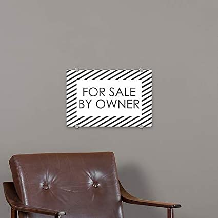 36x24 Stripes White Premium Acrylic Sign for Sale by Owner CGSignLab