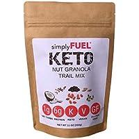 simplyFUEL KETO Granola - Low Carb Keto Snack - 1g NET CARBS - Healthy Breakfast Cereal - 6g Protein - LOW SUGAR - Gluten & Gluten Free - Vegan - MCT Oil - 11 oz