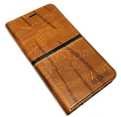 quality design 9f581 d3bf2 Rich Boss Luxury Hand-made Leather Flip Cover for: Amazon.in ...
