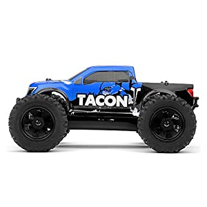 Exceed RC 1/14 Tacon Valor Monster Truck Brushless Ready to Run 2.4ghz (Blue) RC Remote Control Radio Car