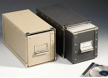 Leuchtturm 329812 DURA Caja para CDs, natural: Amazon.es: Oficina y papelería