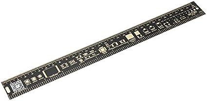 25cm Black Multifunctional PCB Ruler Measuring Tool Resistor Capacitor Chip IC