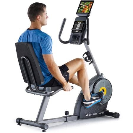 Gold's Gym Cycle Trainer 400 Ri Exercise Bike with iFit Blue