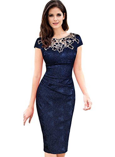 90814e8092f Vfemage Womens embroidered Bodycon Cocktail product image