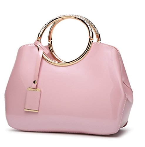 BLUE CHIP GIRLS Classy Patent Leather Handbag