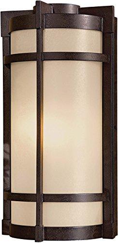 Minka Lavery Outdoor Wall Light 72021-A179-PL Mirador Exterior Pocket Sconce Lantern, 26w Fluorescent, Bronze
