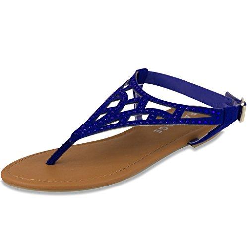 Cobalt Ram - Rampage Womens Pattie Sandal 9.5 Cobalt