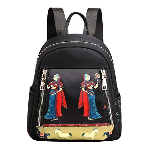 Women's Fashion Nylon Waterproof Shoulder Messenger Crossbody Bags BackPacks