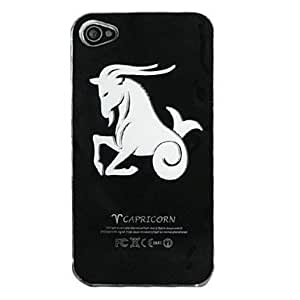 QJM New Sense Aries Design LED Flash Light Color Changing Hard Case for iPhone 5 , Black