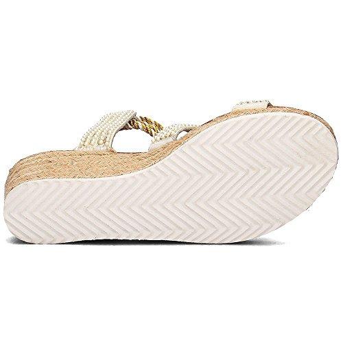 39 Sandalias Gioseppo Ocelot Blanco T Color XwvCq