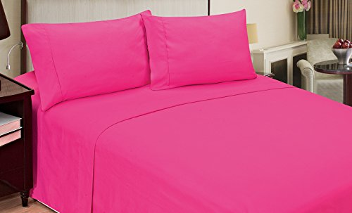 3 Morgan Piece (Home Dynamix Jill Morgan Fashion 3 Piece Solid Sheet Set, Twin, Pink)