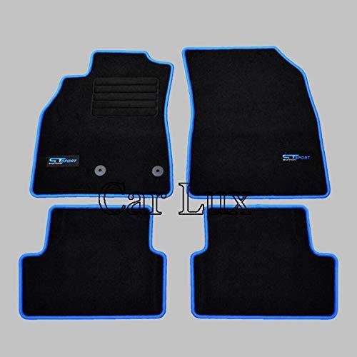 Alfombras Coche a Medida Alfombrillas Edition Velour Personalizadas para Megane 3 III Car Lux AR00548