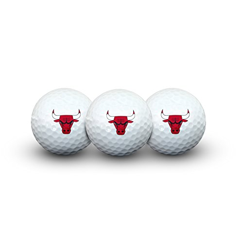 Team Effort NBA Chicago Bulls Golf Ball Pack of 3Golf Ball Pack of 3, NA by Team Effort