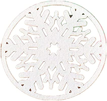 L/_shop Christmas Cup Mat Hollow Out Snowflake Coasters Tea Cup Bowl Pad Holder Dinner Table Placemat Decor Gift for Xmas Party Restaurant Dining Room,As it is description,green