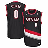 NBA Portland Trail Blazers Damian Lillard #0 Men's Replica Jersey, XX-Large, Black