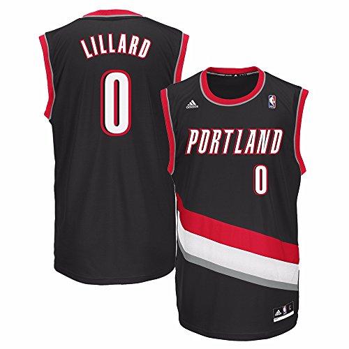 NBA Portland Trail Blazers Damian Lillard #0 Men's Replica Jersey, X-Large, Black