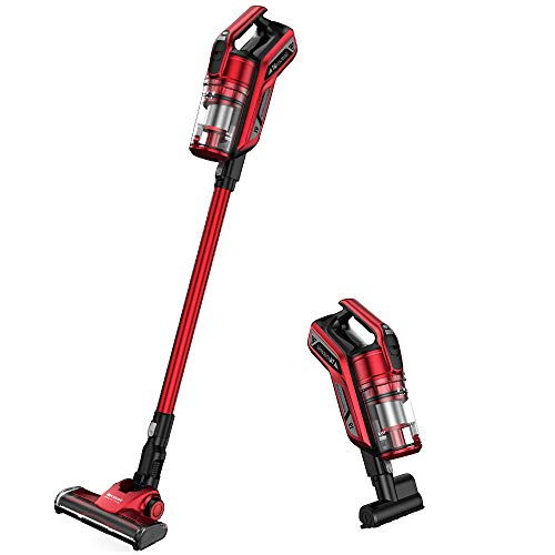 Proscenic I9 Cordless Vacuum Cleaner,Powerful Suction 22000Pa with LED Headlight, Charging Base, Long Lasting, Red