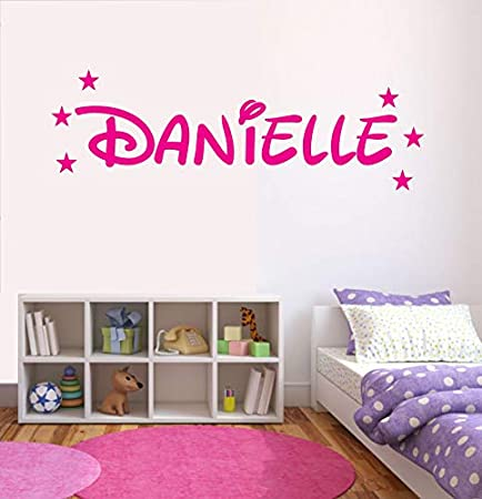 Childs Bedroom Personalised Disney Name Wall Sticker Any Colour Any Name Small 50cm x 26cm, Bergundy