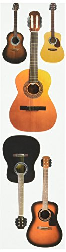 Paper House Productions STEM-0009E 3D Cardstock Stickers, Acoustic Guitars, 2-Inch (3-Pack)