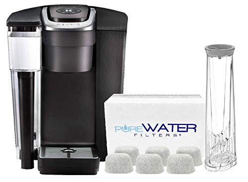 PureWater Filters bundle K1500 Commercial Single Serve Coffee Brewer by Keurig with 6 Charcoal Water Filters and Holder by PureWater ()